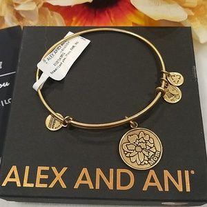 "Alex and Ani ""I love you Mom' bracelet"
